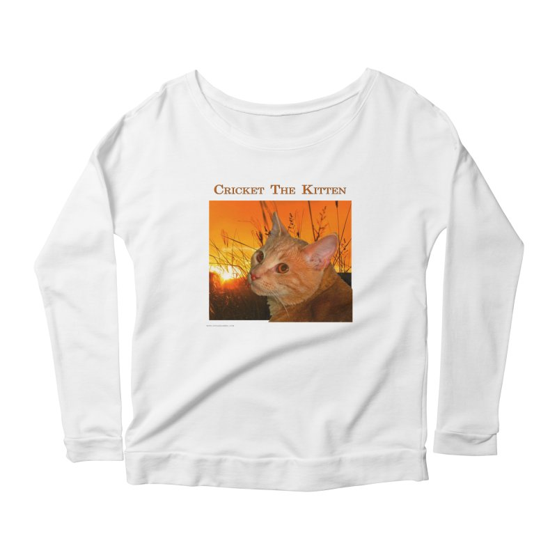 Cricket The Kitten Women's Scoop Neck Longsleeve T-Shirt by Every Drop's An Idea's Artist Shop
