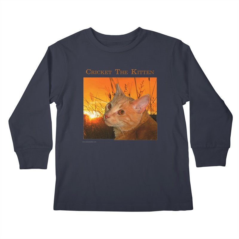 Cricket The Kitten Kids Longsleeve T-Shirt by Every Drop's An Idea's Artist Shop