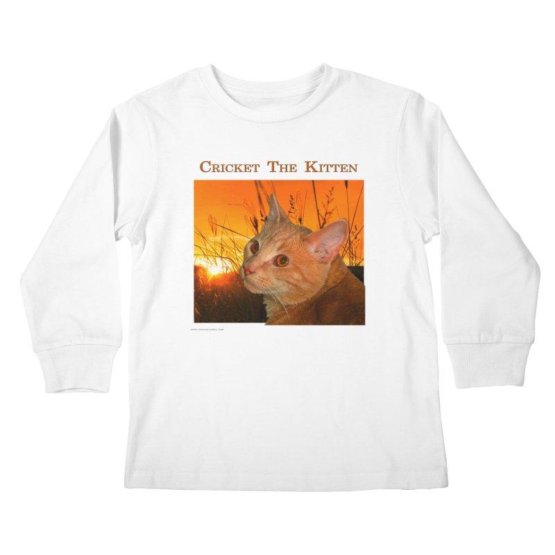 Cricket The Kitten Kids Longsleeve T-Shirt by Every Drop's An Idea's Artist Shop