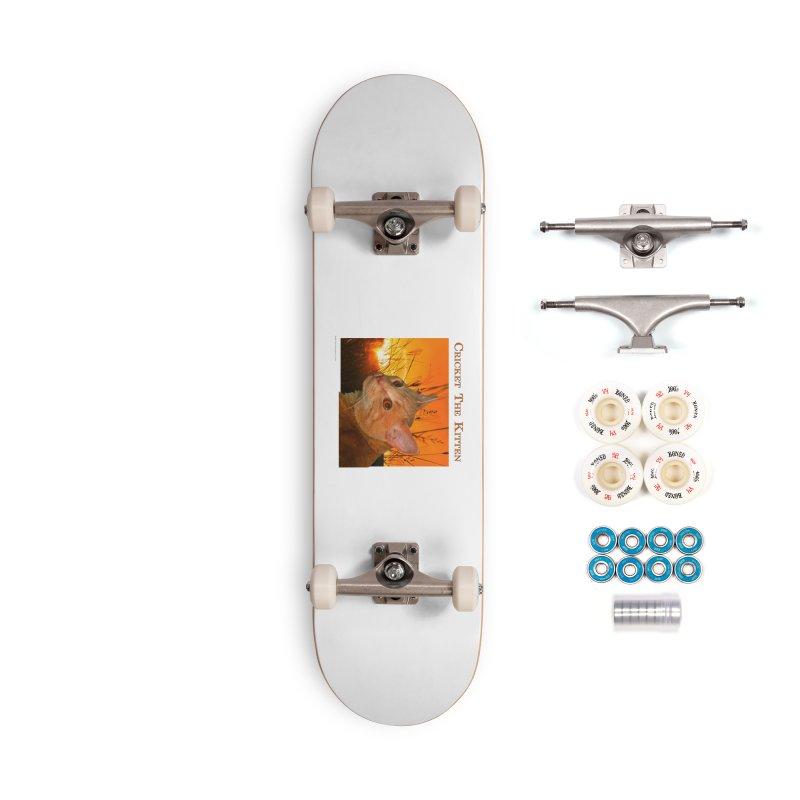 Cricket The Kitten Accessories Complete - Premium Skateboard by Every Drop's An Idea's Artist Shop