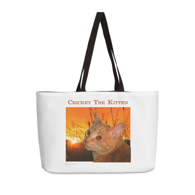 Cricket The Kitten Accessories Weekender Bag Bag by Every Drop's An Idea's Artist Shop