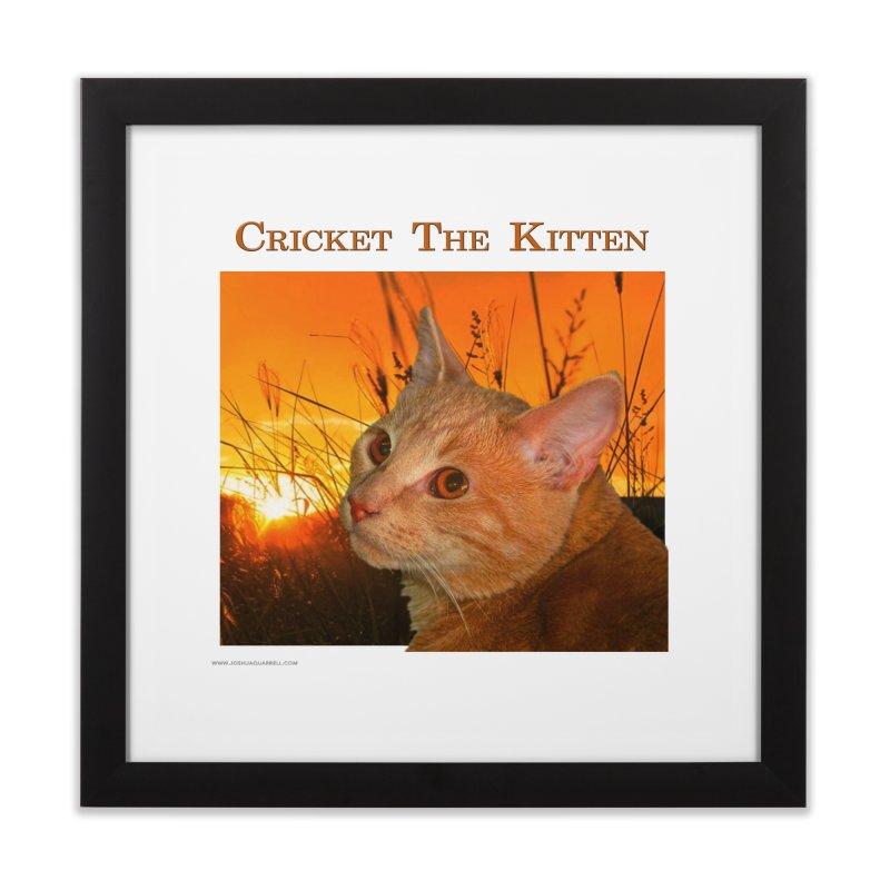 Cricket The Kitten Home Framed Fine Art Print by Every Drop's An Idea's Artist Shop