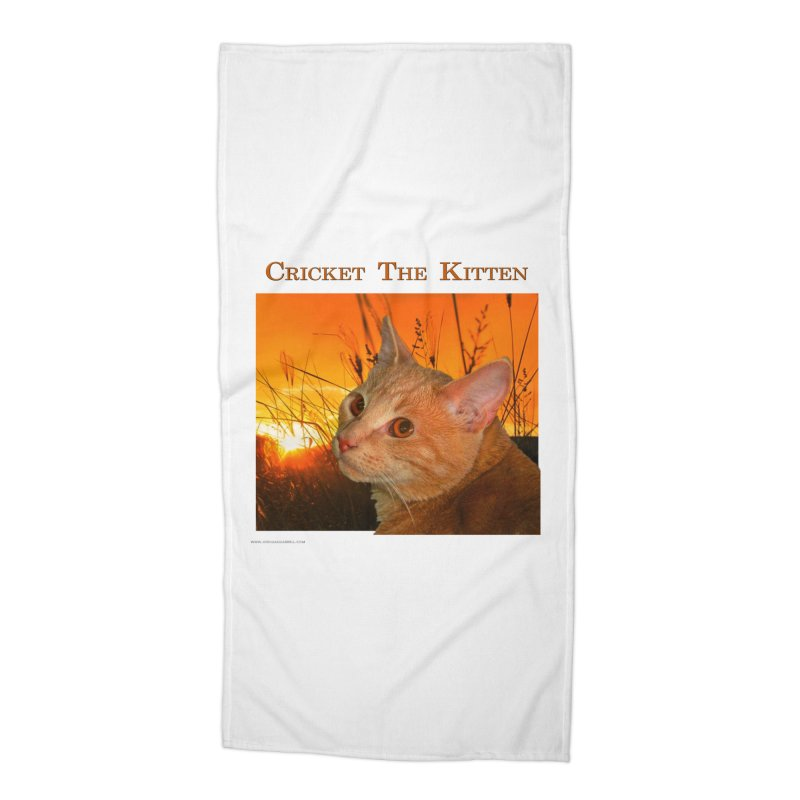 Cricket The Kitten Accessories Beach Towel by Every Drop's An Idea's Artist Shop