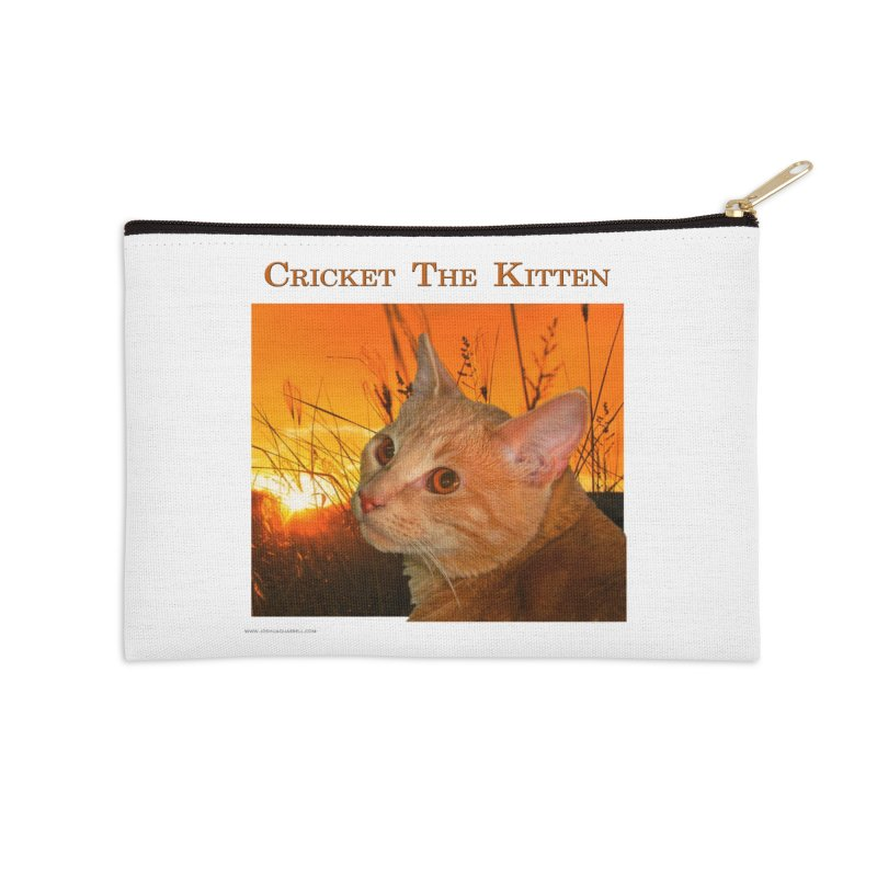 Cricket The Kitten Accessories Zip Pouch by Every Drop's An Idea's Artist Shop