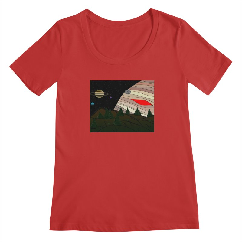 Was It All A Dream Women's Regular Scoop Neck by Every Drop's An Idea's Artist Shop