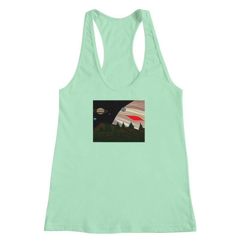Was It All A Dream Women's Racerback Tank by Every Drop's An Idea's Artist Shop