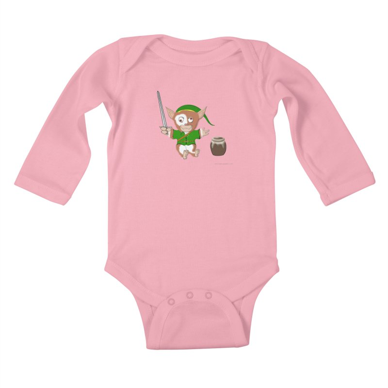Gremlink Kids Baby Longsleeve Bodysuit by Every Drop's An Idea's Artist Shop