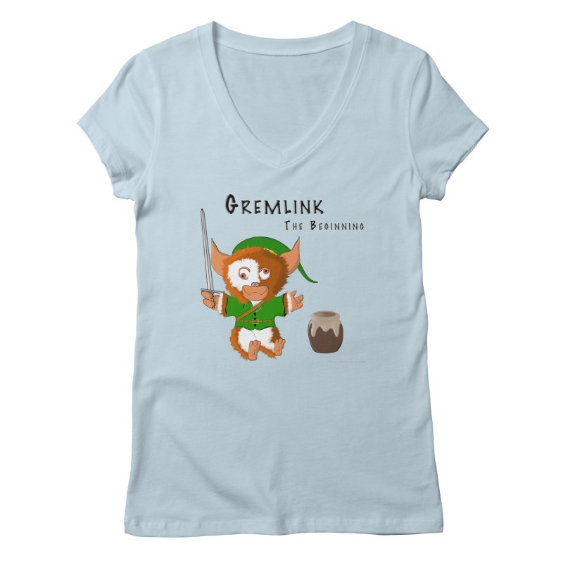 Gremlink Women's Regular V-Neck by Every Drop's An Idea's Artist Shop