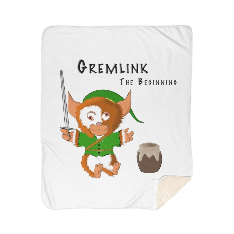 Gremlink Home Sherpa Blanket Blanket by Every Drop's An Idea's Artist Shop