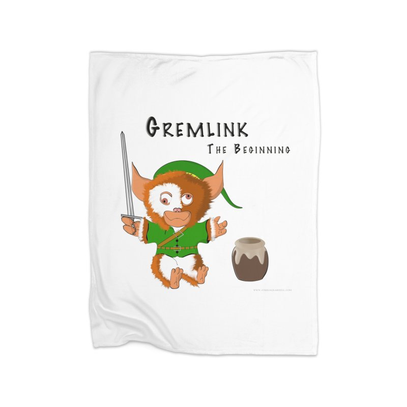Gremlink Home Fleece Blanket Blanket by Every Drop's An Idea's Artist Shop