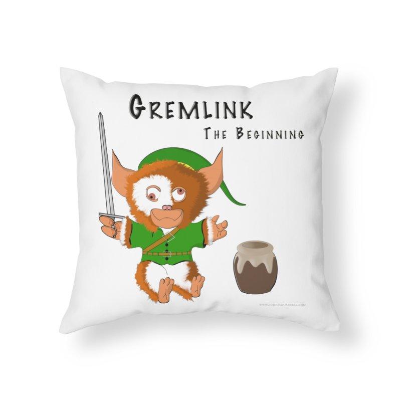 Gremlink Home Throw Pillow by Every Drop's An Idea's Artist Shop