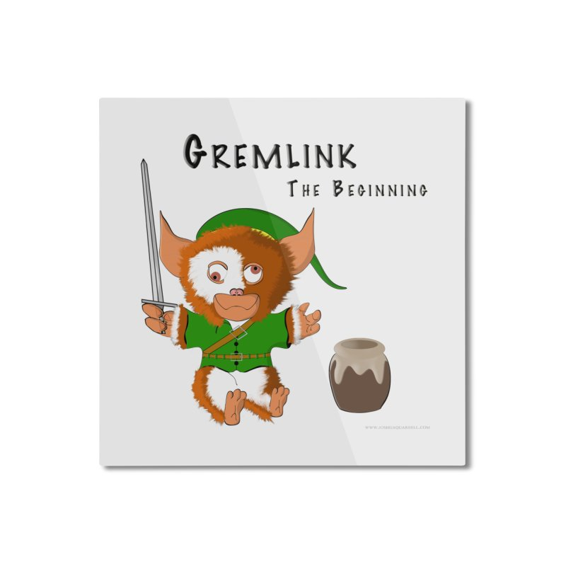 Gremlink Home Mounted Aluminum Print by Every Drop's An Idea's Artist Shop