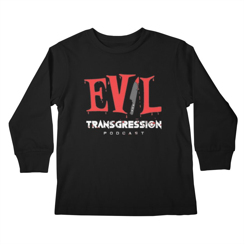 Logo Kids Longsleeve T-Shirt by Evil Transgression Podcast