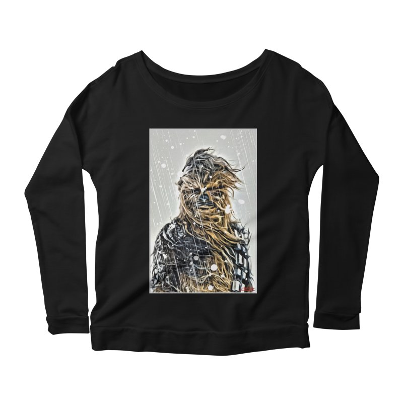 Chewbacca Women's Scoop Neck Longsleeve T-Shirt by Evolution Comics INC