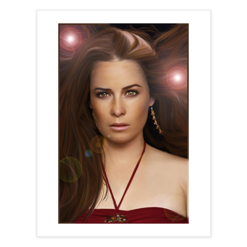 Piper Halliwell / Holly Marie Combs Home Fine Art Print by Evolution Comics INC