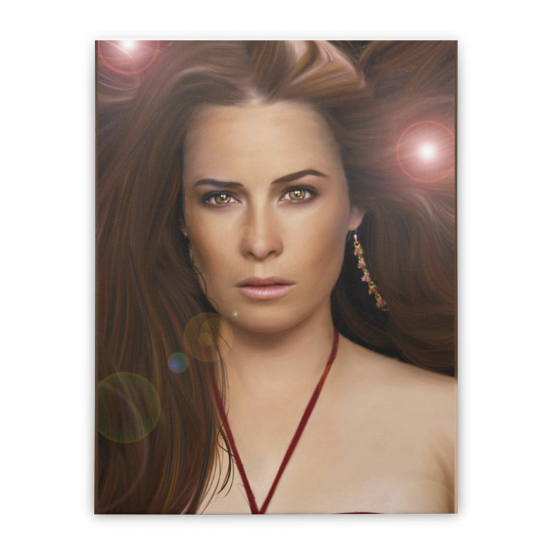 Piper Halliwell / Holly Marie Combs Home Stretched Canvas by Evolution Comics INC