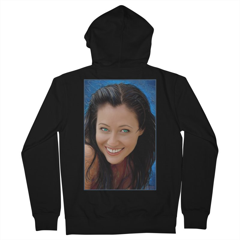 Prue Halliwell / Shannen Doherty Men's French Terry Zip-Up Hoody by Evolution Comics INC