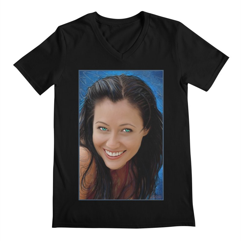 Prue Halliwell / Shannen Doherty Men's Regular V-Neck by Evolution Comics INC
