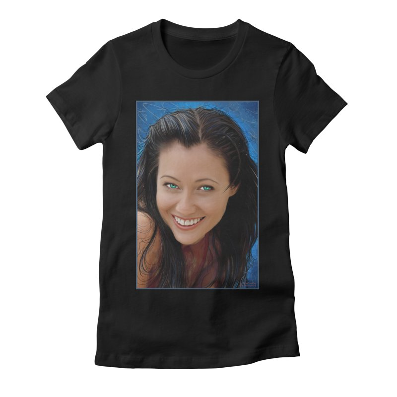 Prue Halliwell / Shannen Doherty Women's Fitted T-Shirt by Evolution Comics INC