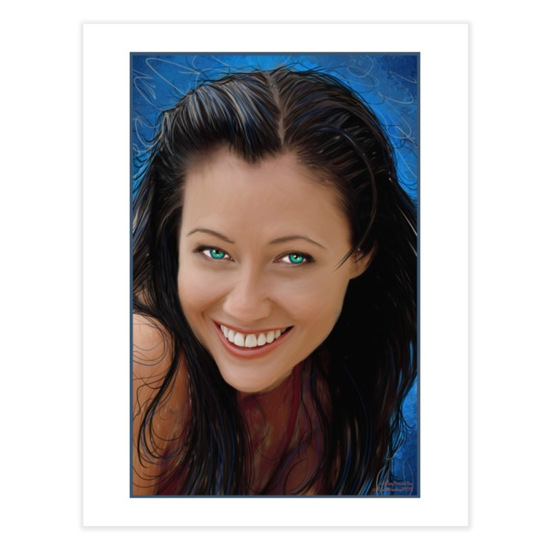 Prue Halliwell / Shannen Doherty Home Fine Art Print by Evolution Comics INC