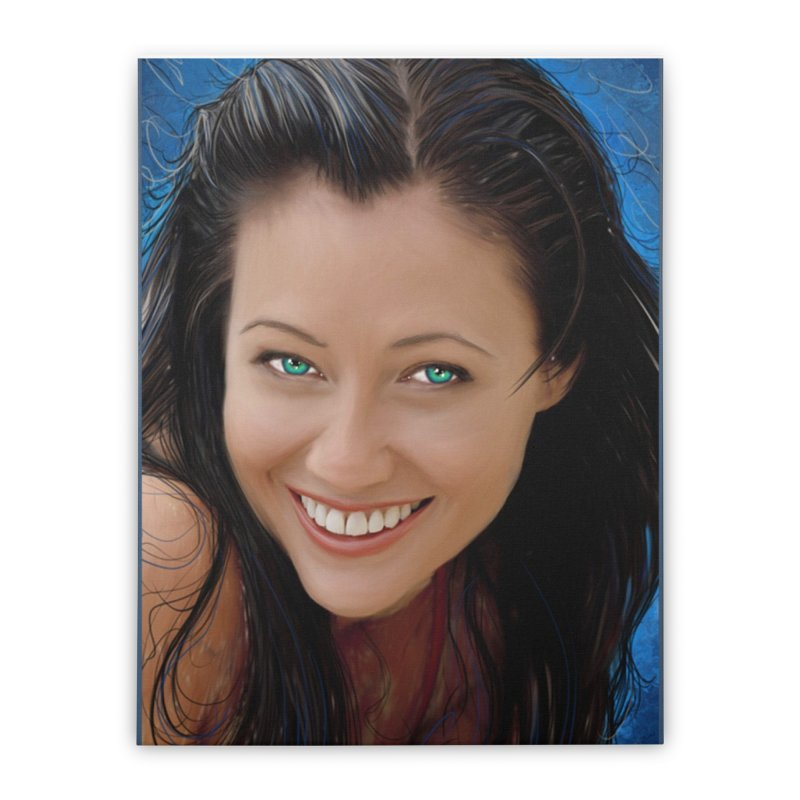 Prue Halliwell / Shannen Doherty Home Stretched Canvas by Evolution Comics INC