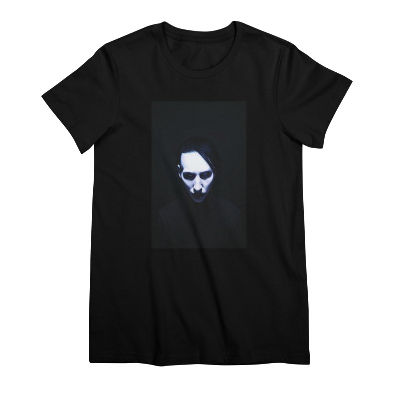 Marilyn Manson Women's Premium T-Shirt by Evolution Comics INC