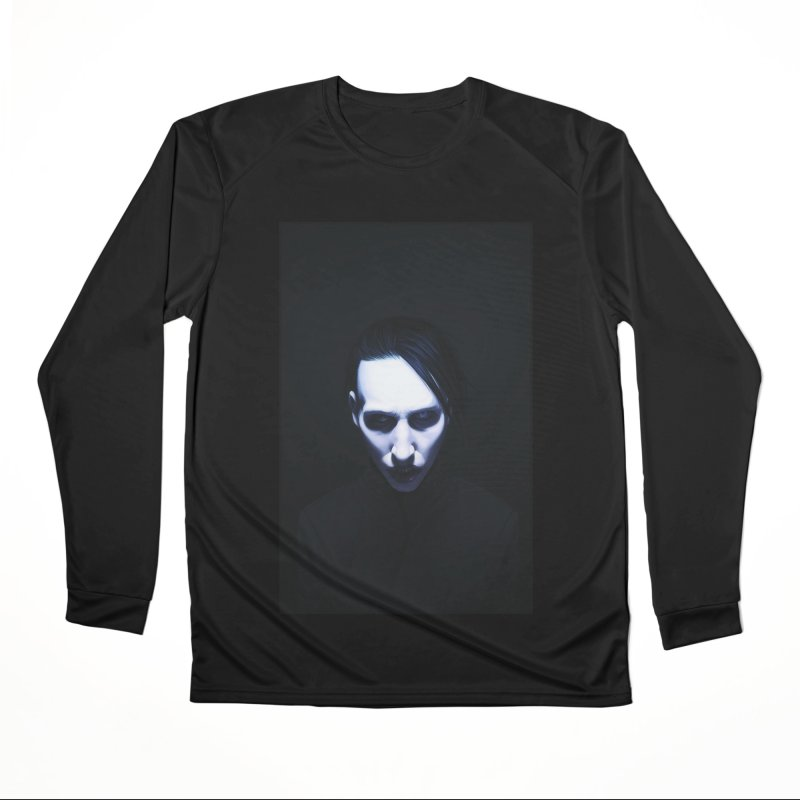 Marilyn Manson Men's Performance Longsleeve T-Shirt by Evolution Comics INC