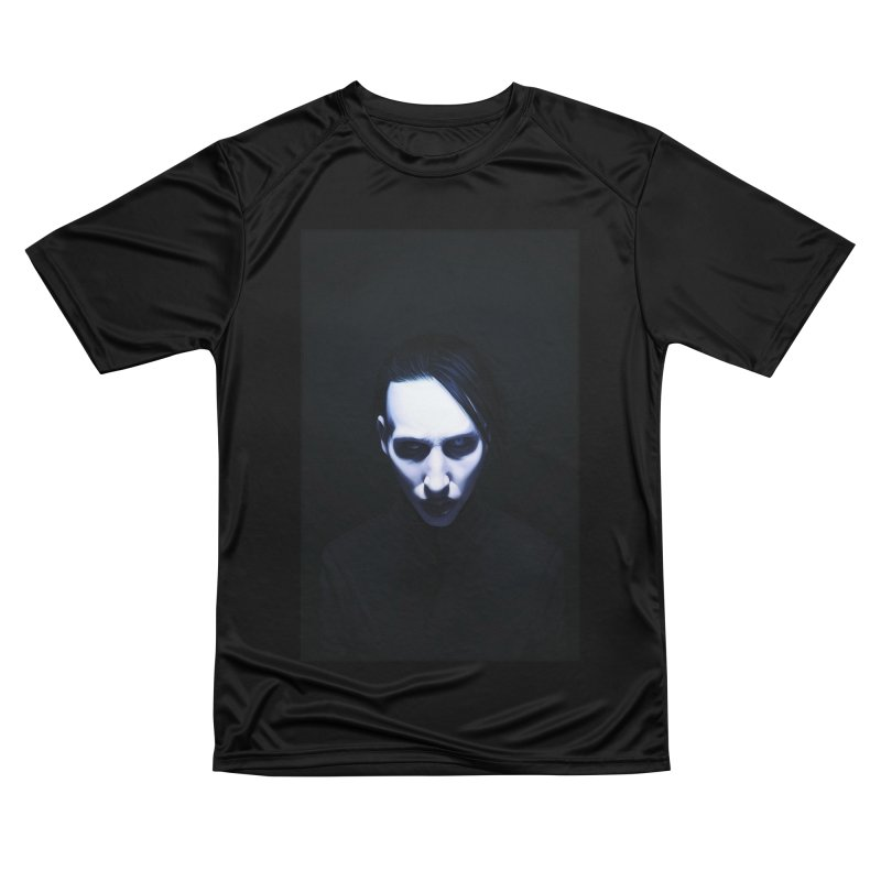 Marilyn Manson Women's Performance Unisex T-Shirt by Evolution Comics INC