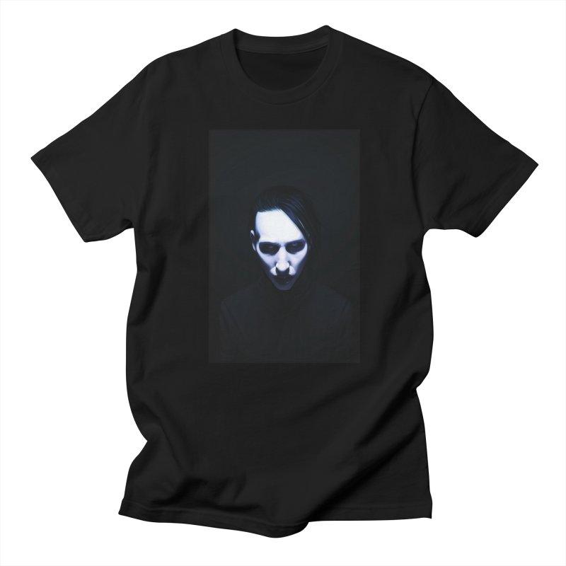 Marilyn Manson Men's T-Shirt by Evolution Comics INC