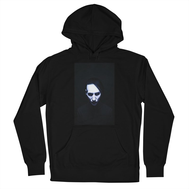 Marilyn Manson Women's French Terry Pullover Hoody by Evolution Comics INC