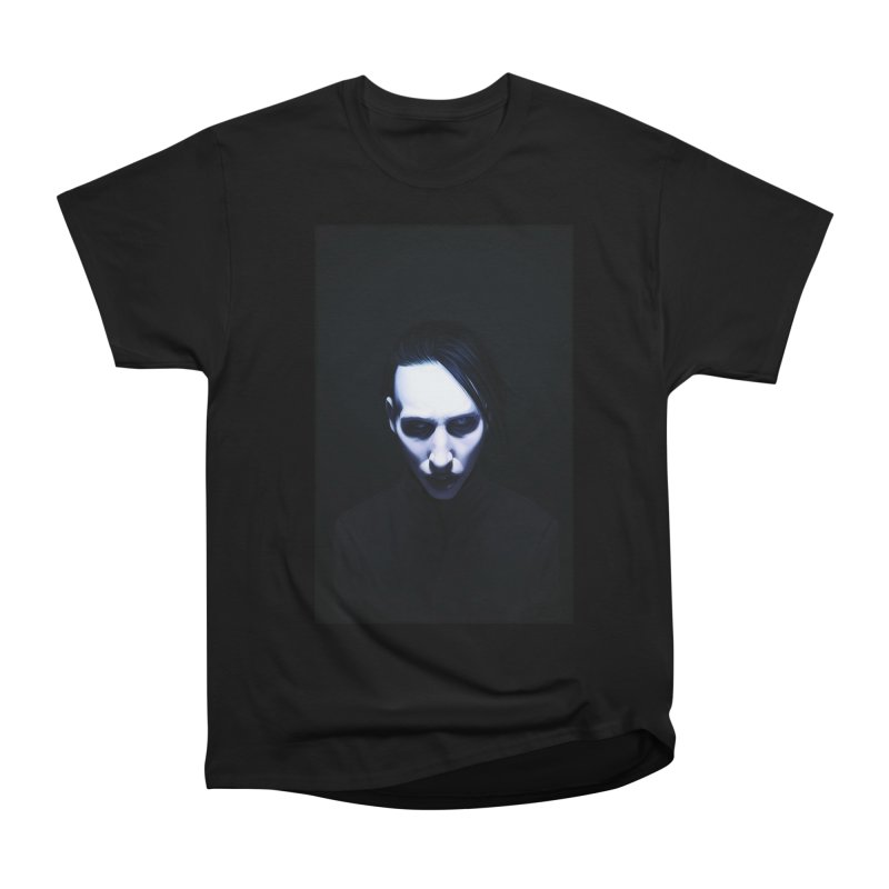 Marilyn Manson Men's Heavyweight T-Shirt by Evolution Comics INC