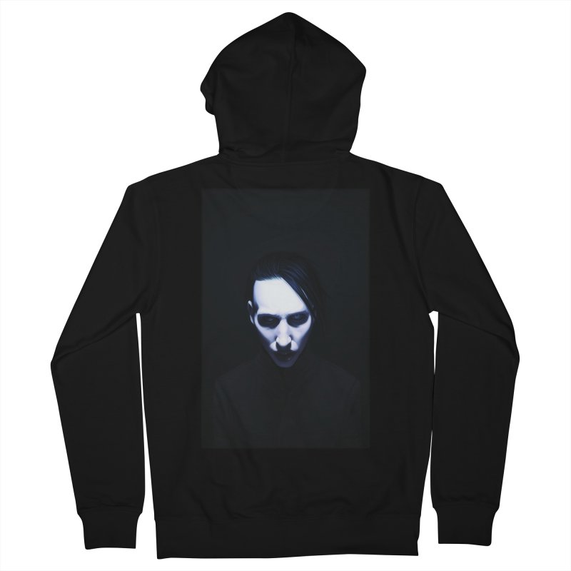 Marilyn Manson Women's French Terry Zip-Up Hoody by Evolution Comics INC