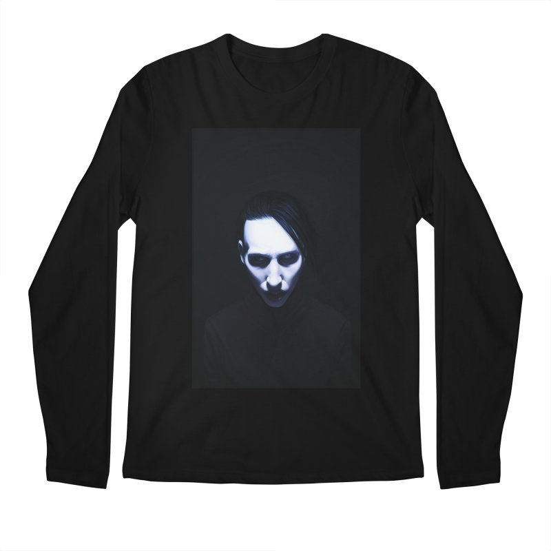 Marilyn Manson Men's Regular Longsleeve T-Shirt by Evolution Comics INC