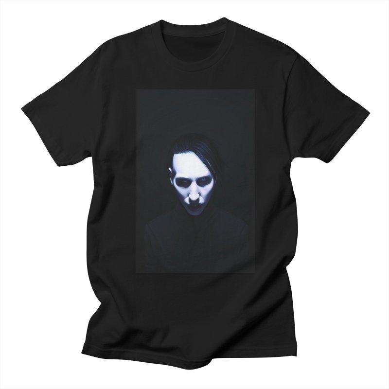 Marilyn Manson Men's Regular T-Shirt by Evolution Comics INC