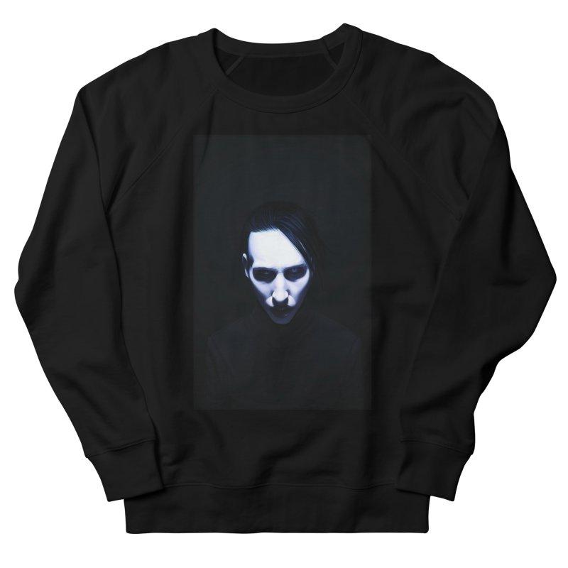 Marilyn Manson Men's French Terry Sweatshirt by Evolution Comics INC
