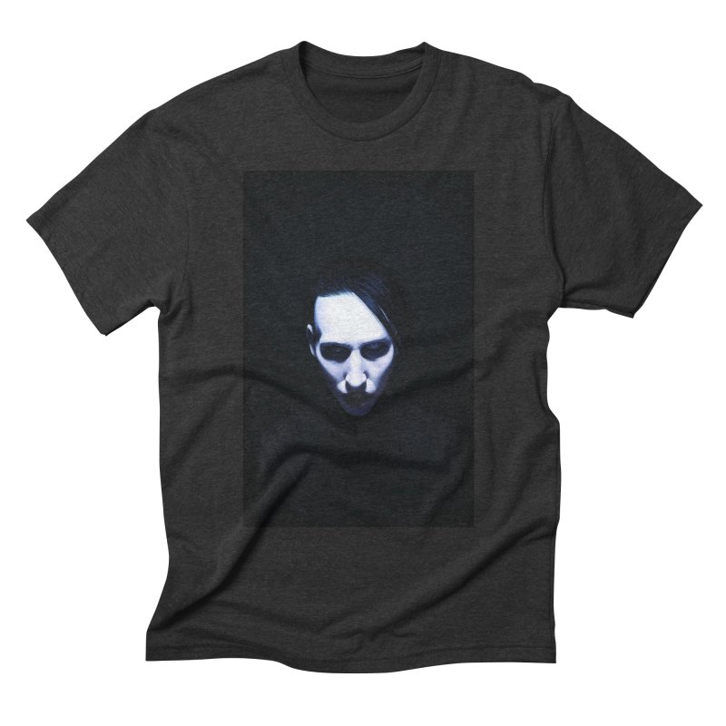 Marilyn Manson Men's Triblend T-Shirt by Evolution Comics INC