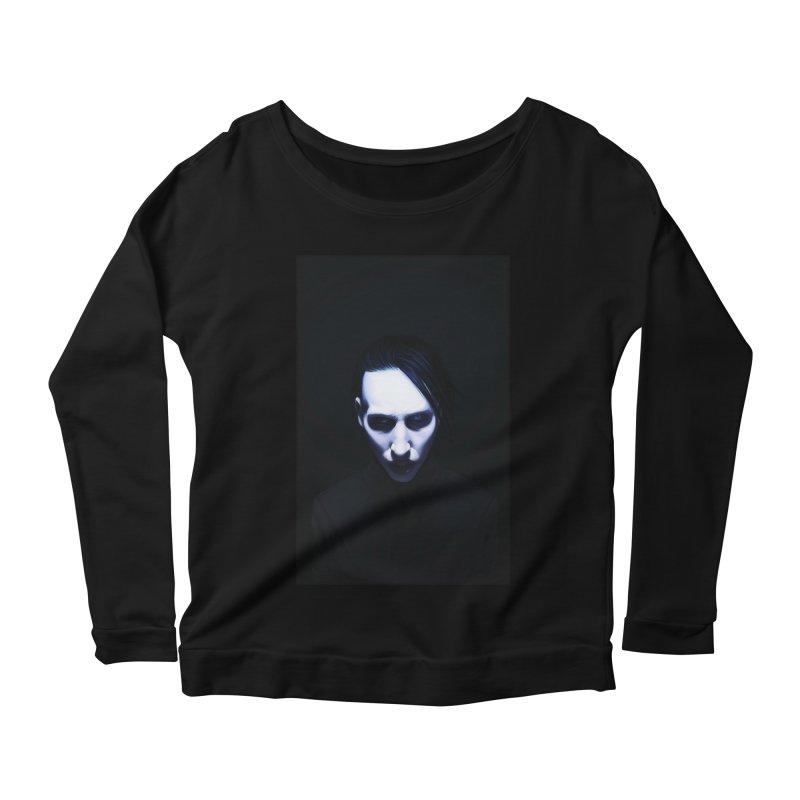 Marilyn Manson Women's Scoop Neck Longsleeve T-Shirt by Evolution Comics INC
