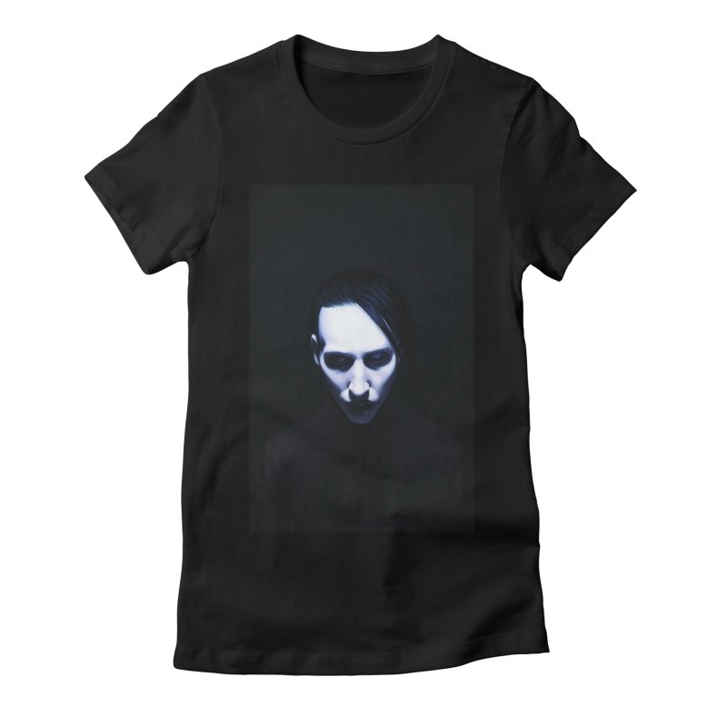 Marilyn Manson Women's Fitted T-Shirt by Evolution Comics INC