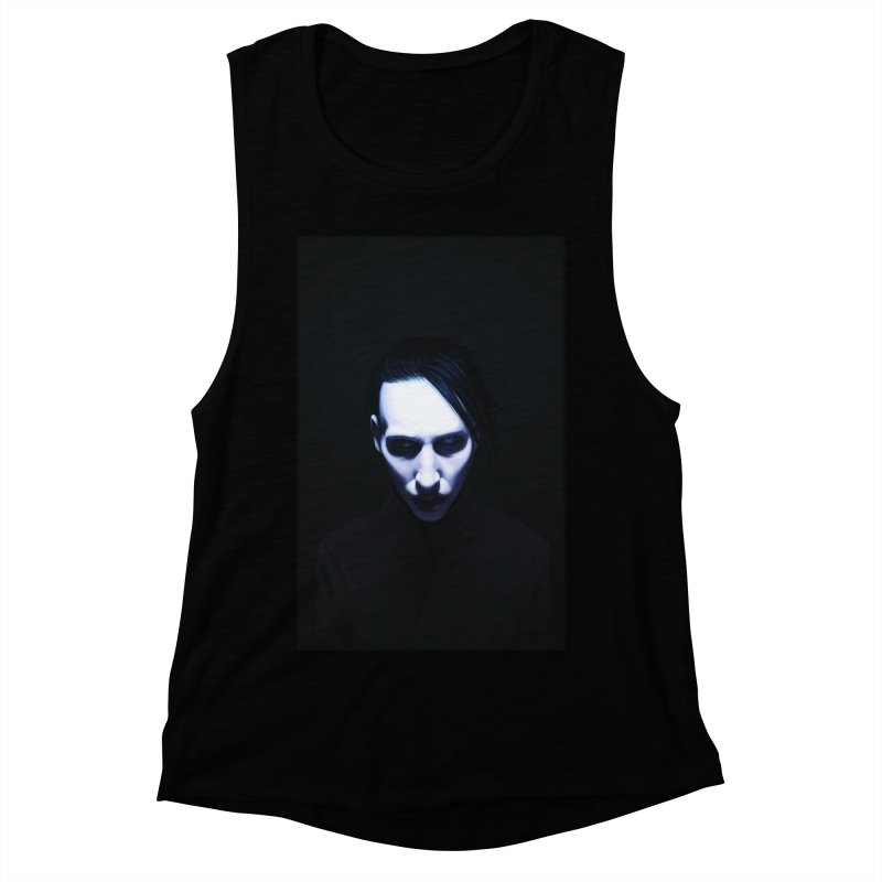 Marilyn Manson Women's Muscle Tank by Evolution Comics INC