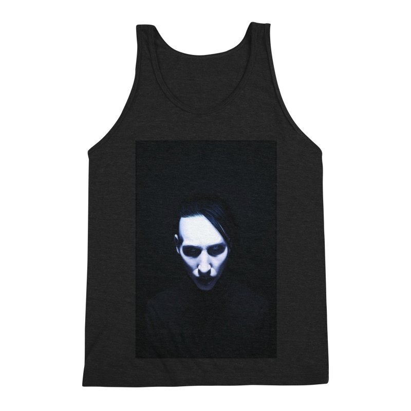 Marilyn Manson Men's Triblend Tank by Evolution Comics INC
