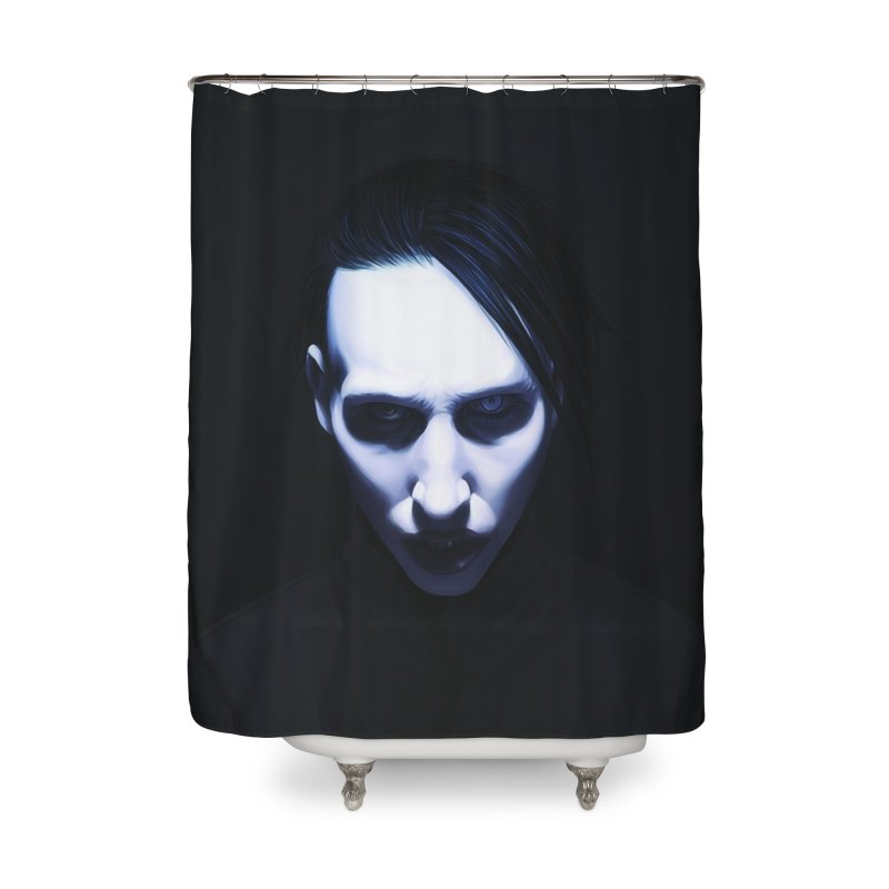 Marilyn Manson Home Shower Curtain by Evolution Comics INC