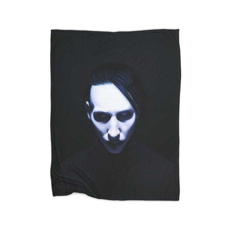 Marilyn Manson Home Fleece Blanket Blanket by Evolution Comics INC