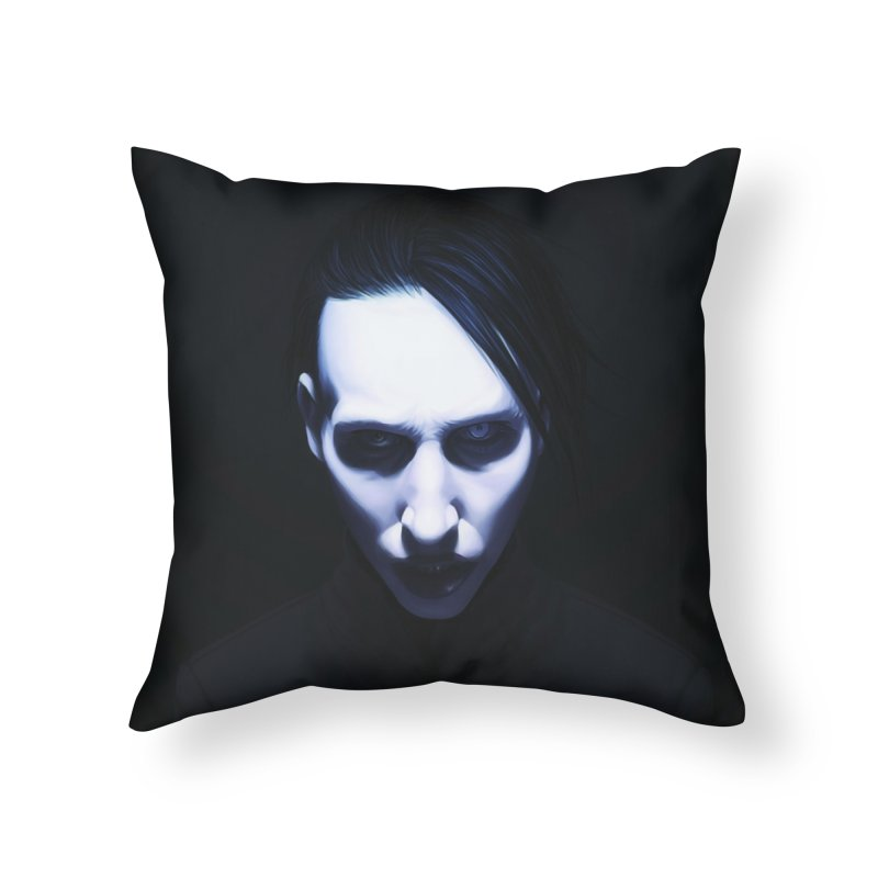 Marilyn Manson Home Throw Pillow by Evolution Comics INC