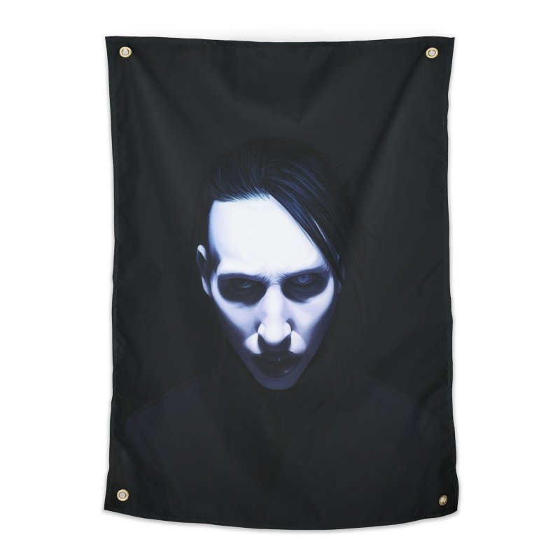 Marilyn Manson Home Tapestry by Evolution Comics INC