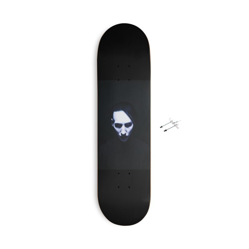 Marilyn Manson Accessories With Hanging Hardware Skateboard by Evolution Comics INC