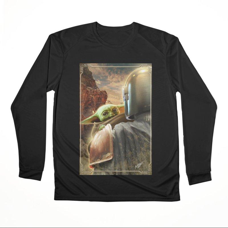 Mando, Hold My Baby Men's Performance Longsleeve T-Shirt by Evolution Comics INC