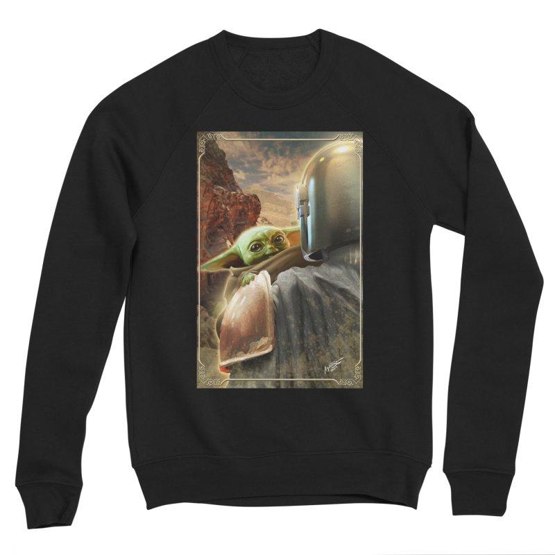 Mando, Hold My Baby Men's Sponge Fleece Sweatshirt by Evolution Comics INC