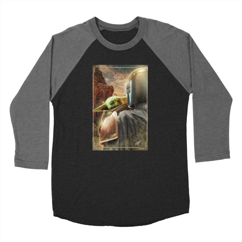 Mando, Hold My Baby Women's Baseball Triblend Longsleeve T-Shirt by Evolution Comics INC