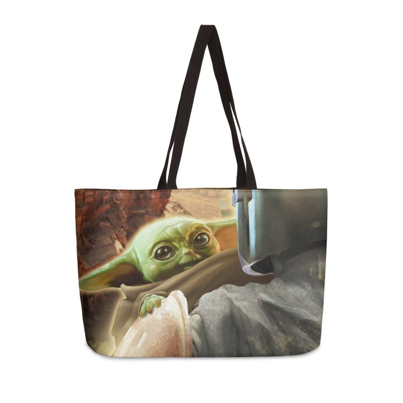 Mando, Hold My Baby Accessories Weekender Bag Bag by Evolution Comics INC