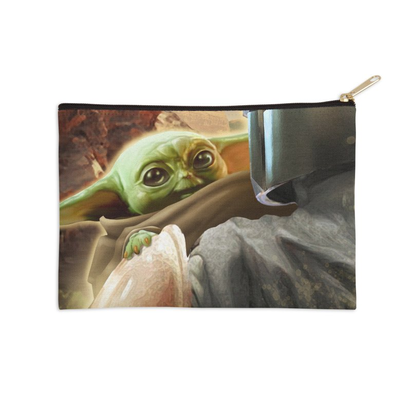 Mando, Hold My Baby Accessories Zip Pouch by Evolution Comics INC